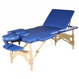 Camilla para masajes portatil color azul de lujo