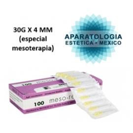 30G X 4 MM (especial mesoterapia)