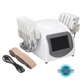 14 almohadillas Lipo Laser La grasa elimina la celulitis Máquina de curvas de contorno corporal de reducción