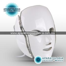 mascara de leds con cuello 7 colores para cromoterapia