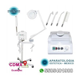 PRO-FS8820 Vaporizador facial 3 en 1, lámpara de aumento y máquina facial de alta frecuencia